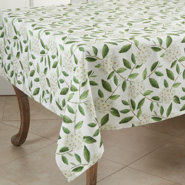 "Floral Design Square Tablecloth - 55"""