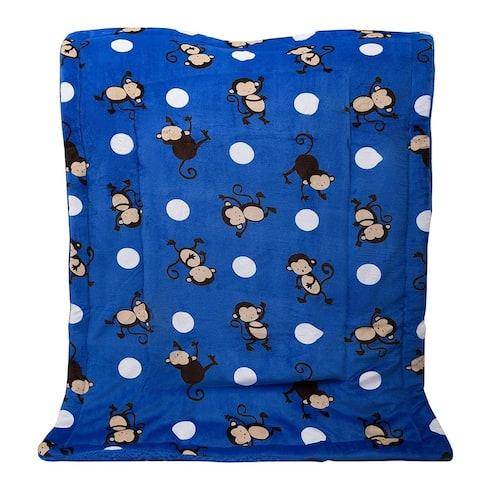 "Kids Soft Warm Sherpa Baby Toddler Blanket Printed Borrego Plush Throw - 40"" x 50"""