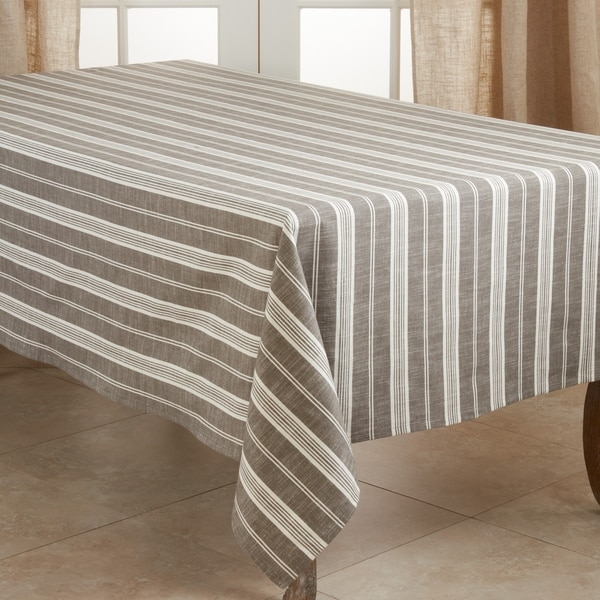 Cotton Tablecloth With Striped Design