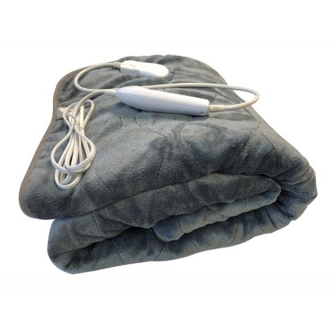 Microplush/ Sherpa Heated Throw Blanket