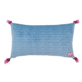 Ivory Ella Susie Blue Tassel Throw Pillow