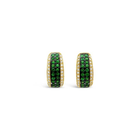Encore by Le Vian14K Yellow Gold 1 1/3 ct Forest Green Tsavorite & 3/8 ct Vanilla Diamonds Earring