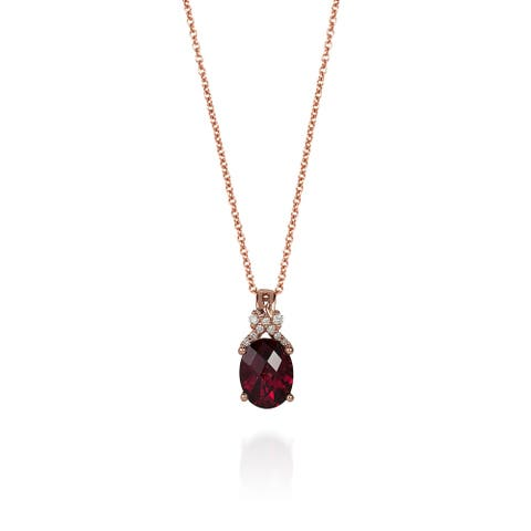 Encore by Le Vian 14K Rose Gold 2 cts. Raspberry Rhodolite® & Vanilla Diamonds® Pendant