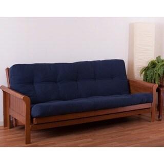 porch  u0026 den wolfchase guthrie 6 inch full size futon mattress ultima better fit full size microfiber futon mattress cover   free      rh   overstock