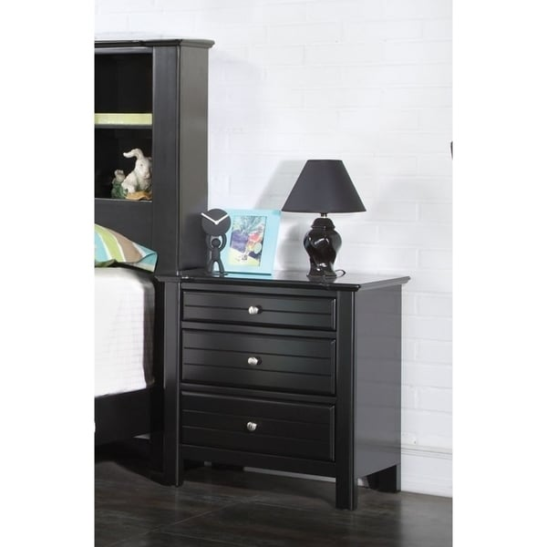 Nightstand, Black, One Size