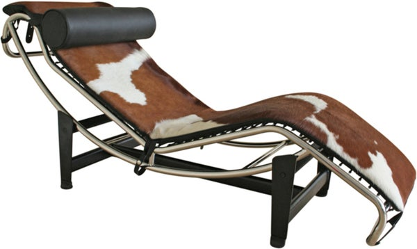 Cow Hide Cover Chaise Lounge