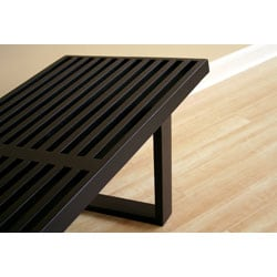 Slat Bench in Black - Thumbnail 2