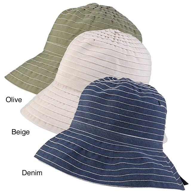 Adi Designs Striped Large Bucket Hat