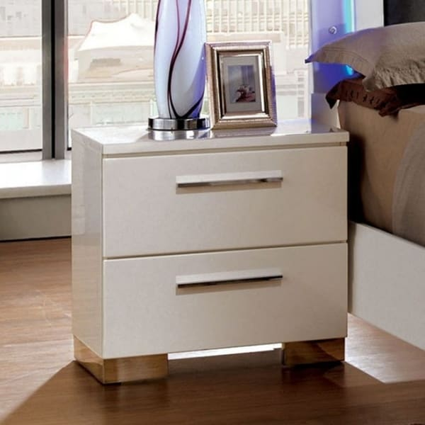 "Smooth White Nightstand, 22.6"" H"