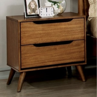 "Nightstand with Round Tapered Legs, 24"" H"