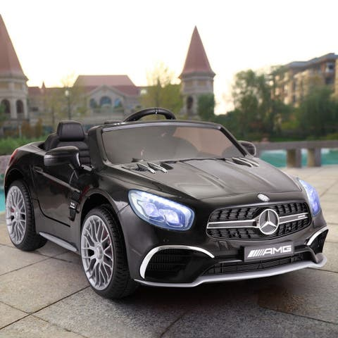 12V Licensed Mercedes Benz Kids Ride On Car With Remote Control MP3