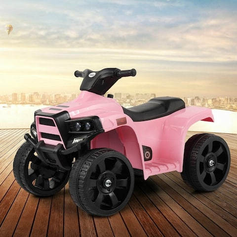 Kids Child Ride on Car 4 wheels Electric Car Outdoor Toy W/light Horn - Pink