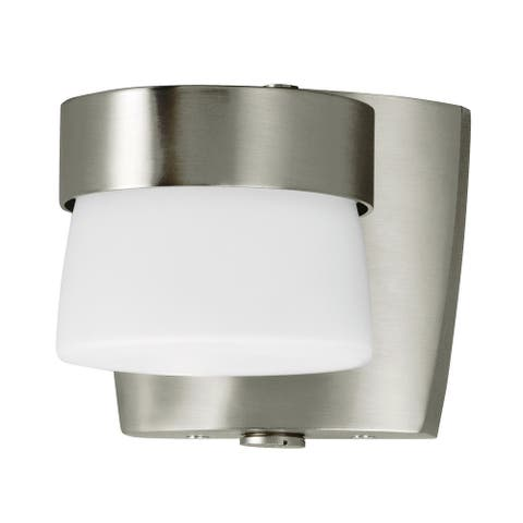 Outdoor 1-light Satin Nickel LED Wall Sconce