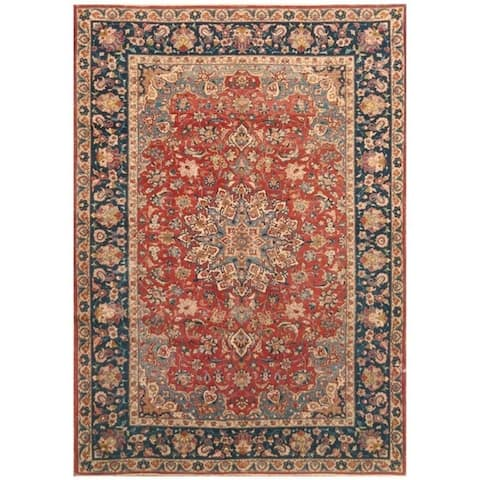 Handmade One-of-a-Kind Antique 1920's Isfahan Wool Rug (Iran) - 7'5 x 10'10
