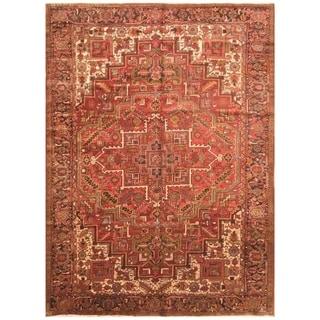 Handmade One-of-a-Kind Semi-antique 1960's Heriz Wool Rug (Iran)