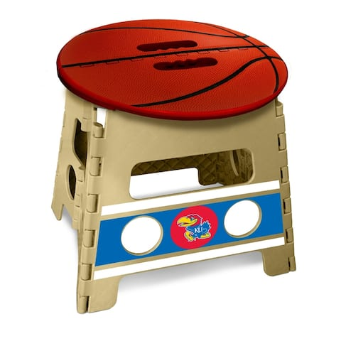University of Kansas Basketball Top Folding Step Stool 13 Inch Rise