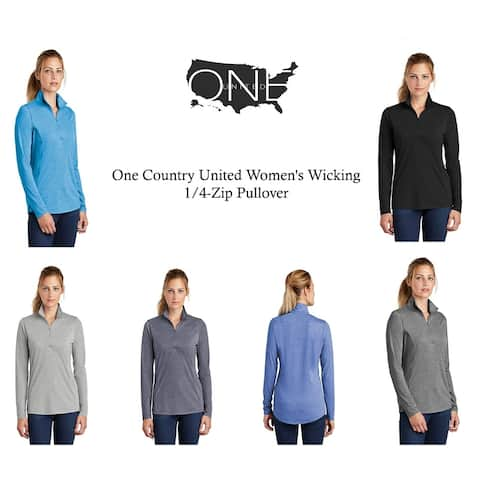 One Country United Women's Wicking 1/4-Zip Pullover