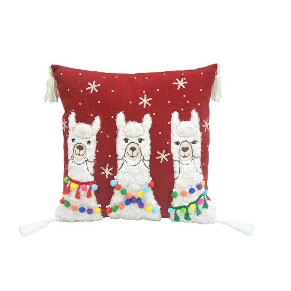 Three Llamas Pillow