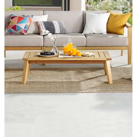 Sedona Outdoor Patio Eucalyptus Wood Coffee Table