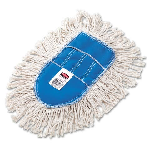Trapper Wedge Dust Mop Head, White, Cut-End, Cotton