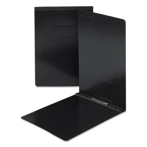 Smead Side Opening Pressboard Report Cover, Prong Fastener, 11 x 17, Black, Each - SMD81179