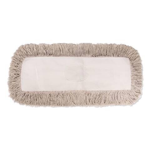Industrial Dust Mop Head, Hygrade Cotton, 18w x 5d, White