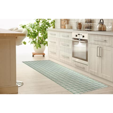 ANCHOR GALORE MINT Kitchen Runner By Kavka Designs