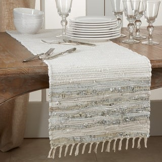Link to Leather Chindi Table Runner with Striped Design Similar Items in Table Linens & Decor