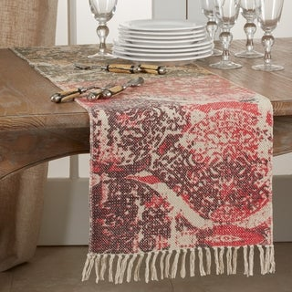 Rug Runner With Distressed Design