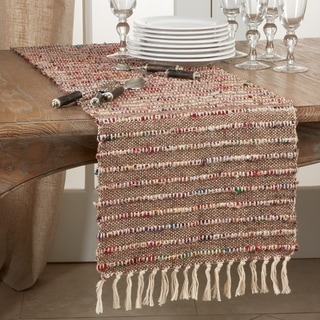 Cotton Table Runner with Corded Design