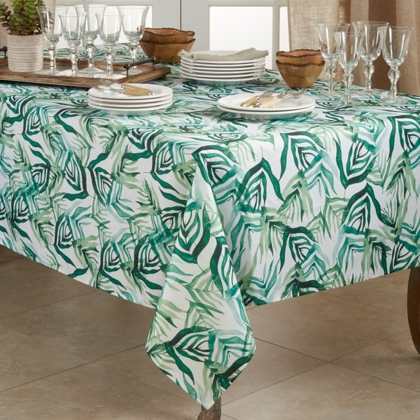 Stylish Tablecloth With Rainforest Design