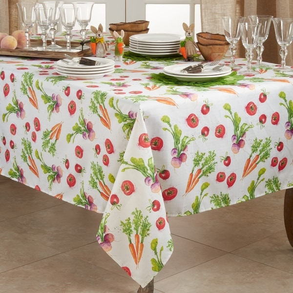 Casual Tablecloth With Veggies Design