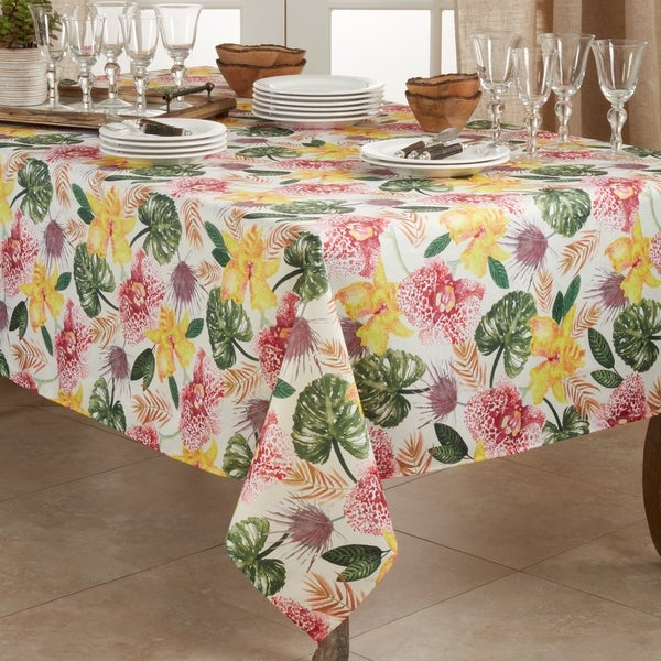 Floral Tablecloth With Lanai Design