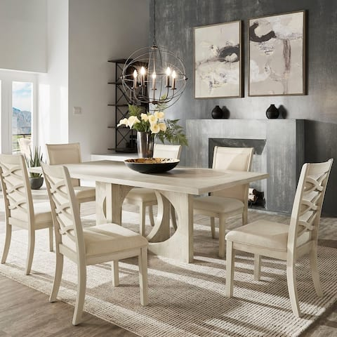Laxman Dove White Dining Set by iNSPIRE Q Modern