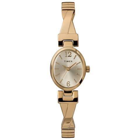 Timex Women's TW2U12000 Fashion Stretch Bangle 21mm Gold-Tone Watch