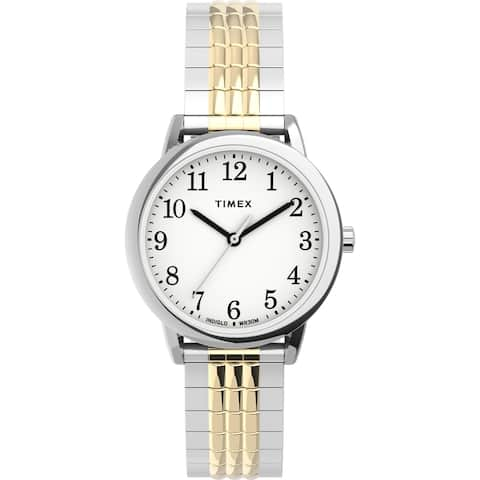 Timex Women's TW2U08500 Easy Reader 30mm Perfect Fit Two-Tone Watch