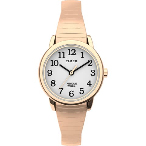 Timex Women's TW2U08200 Easy Reader 25mm Rose Gold Expansion Watch