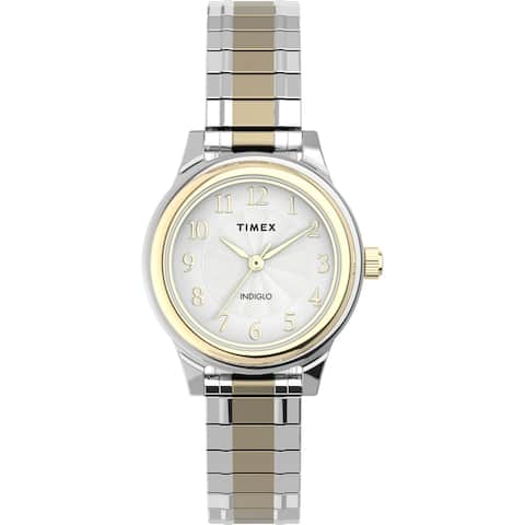 Timex Women's TW2U09200 Classic 28mm Two-Tone Expansion Watch