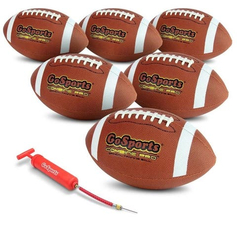 GoSports Combine Football 6 Pack