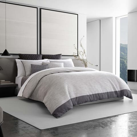 Vera Wang Grisaille Weave Duvet Cover or Coordinating Shams