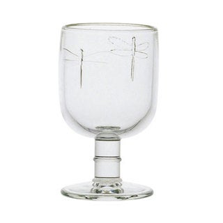 La Rochere Six-Piece Dragonfly Footed Glass Goblet Set