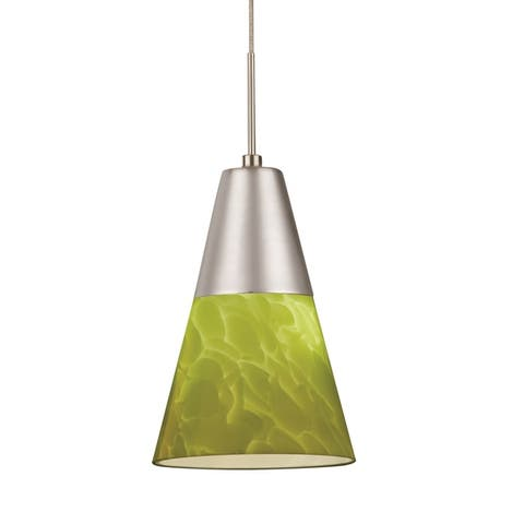 Laveer 1-light Satin Nickel 4000K LED Pendant
