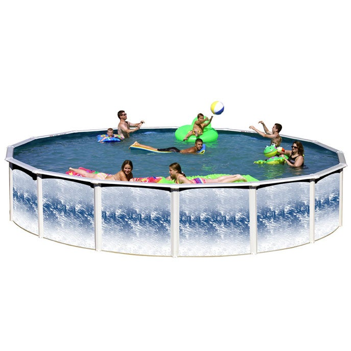 Yorkshire 24 Foot Round Above Ground Pool (Blue) (Yorkshi...