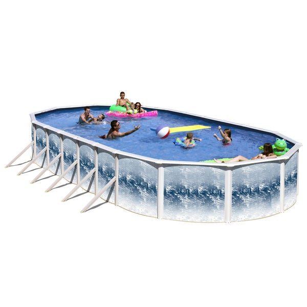 Shop yorkshire above ground oval pool 33 39 x 18 39 free - Above ground oval swimming pools for sale ...