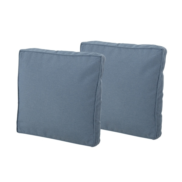 """Glenhaven Indoor Square Water Resistant 18"""" Throw Pillows (Set of 2) by Christopher Knight Home"""