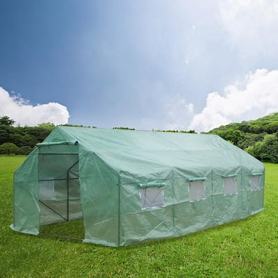 20ftx10ftx7ft Heavy Duty Greenhouse Plant Gardening Spiked Greenhouse Tent