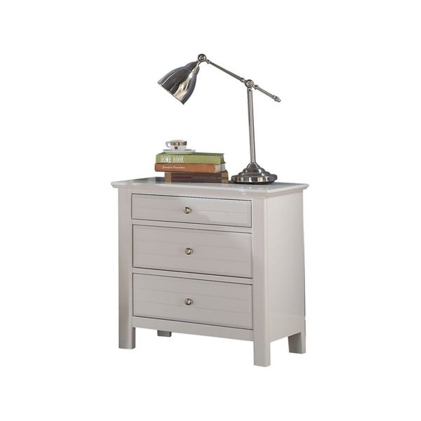 Nightstand, White, One Size