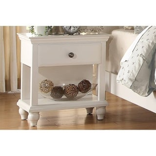 Nightstand, White Finish