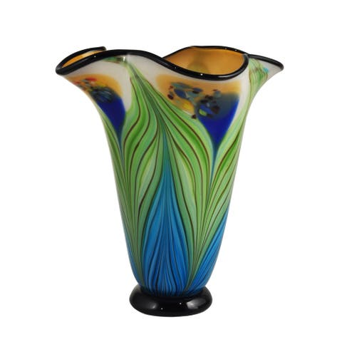 Kalmia Hand Blown Art Glass Vase