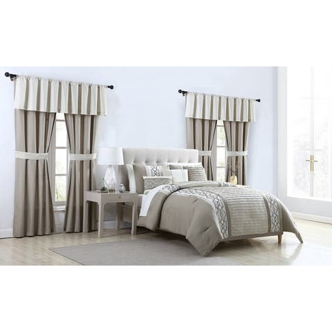 VCNY Home Darryl Embroidered Bed-in-a-Bag Comforter Set